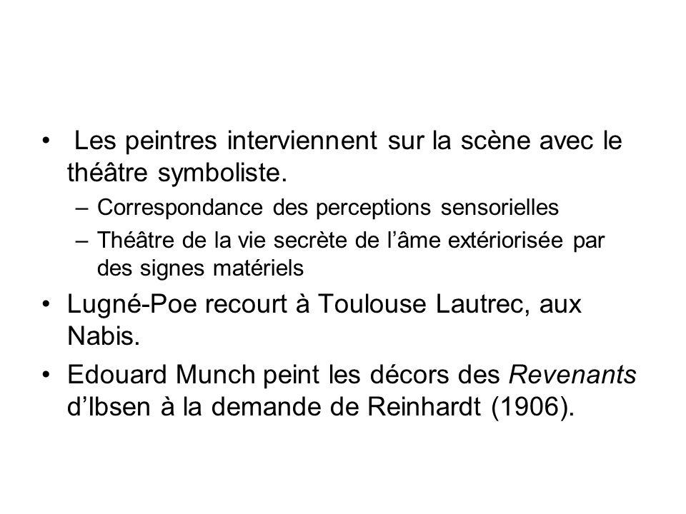 Dans Raz-de-marée dAlfonse Paquet (1927), il y a prolongement entre entre lespace scénique et filmique