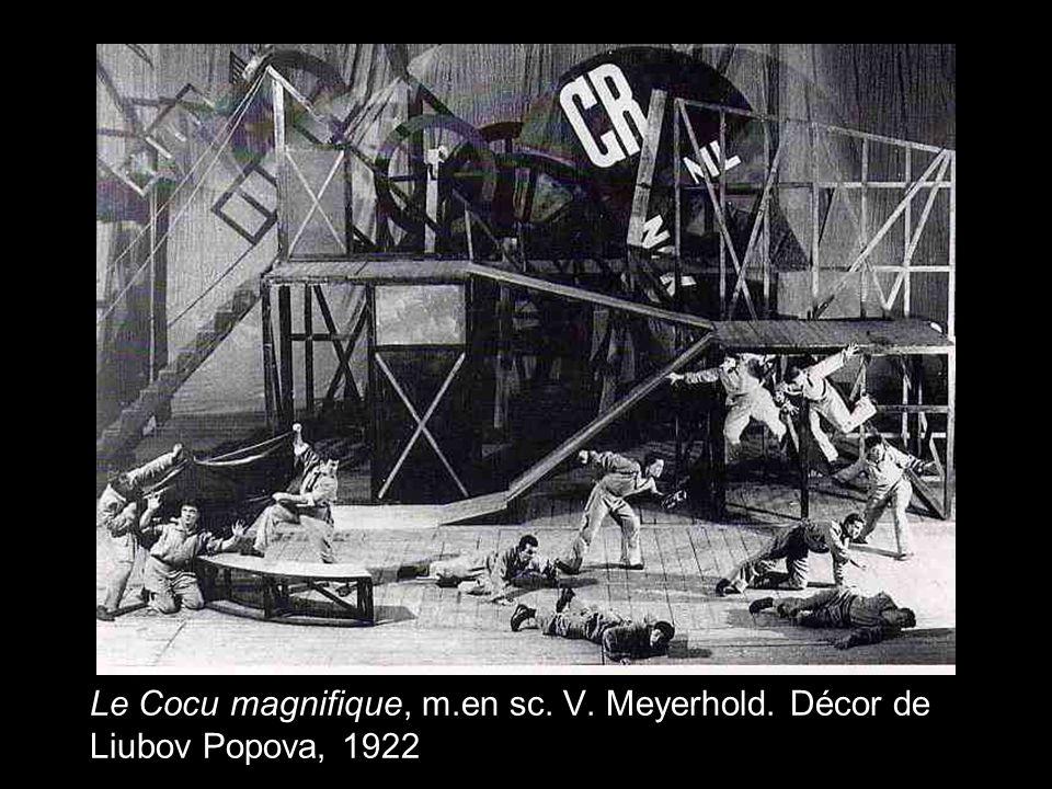 Le Cocu magnifique, m.en sc. V. Meyerhold. Décor de Liubov Popova, 1922