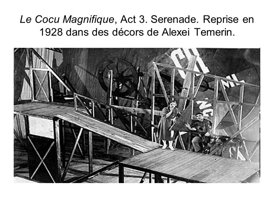 Le Cocu Magnifique, Act 3. Serenade. Reprise en 1928 dans des décors de Alexei Temerin.