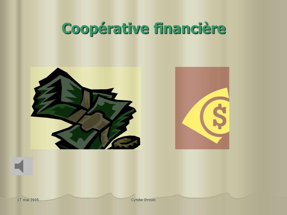 Cyndie Drouin17 mai 2005 Coopérative financière