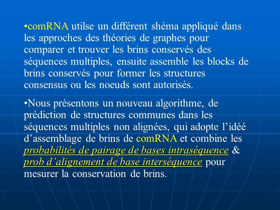 Une autre stratégie (Sankoff 1985) est de simultanément aligner et répertorier les séquences dARN (sa compléxité, non pratique pour plus 2 séquences).