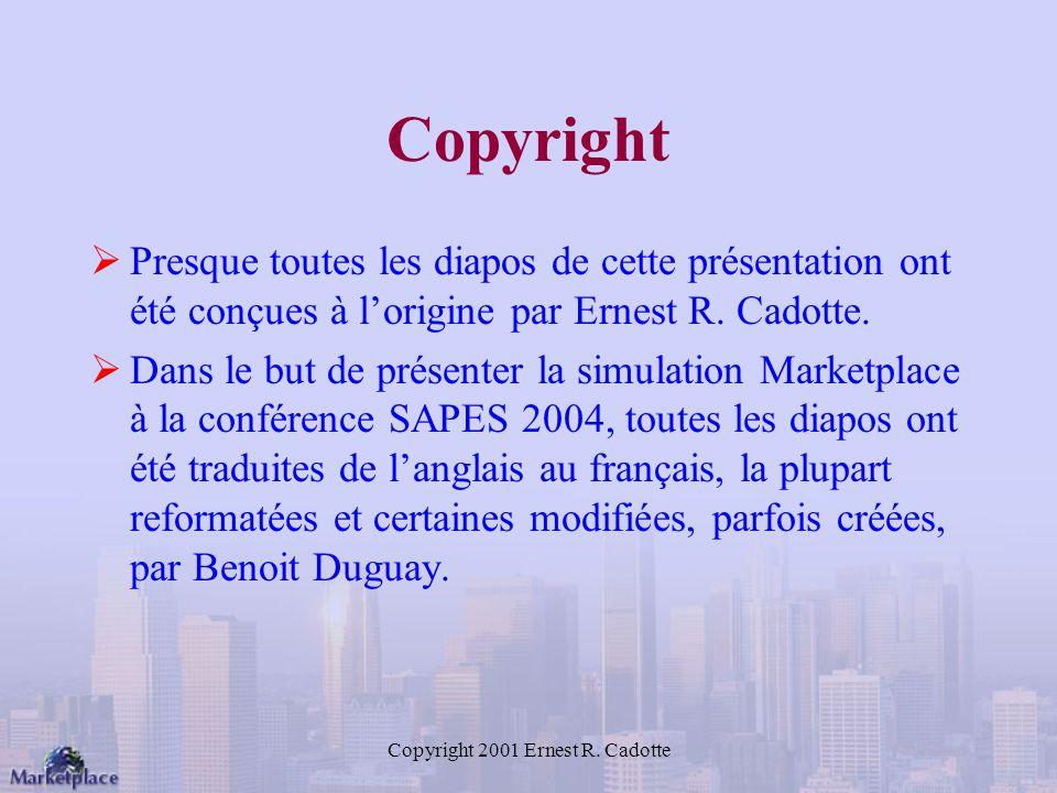 Copyright 2001 Ernest R.
