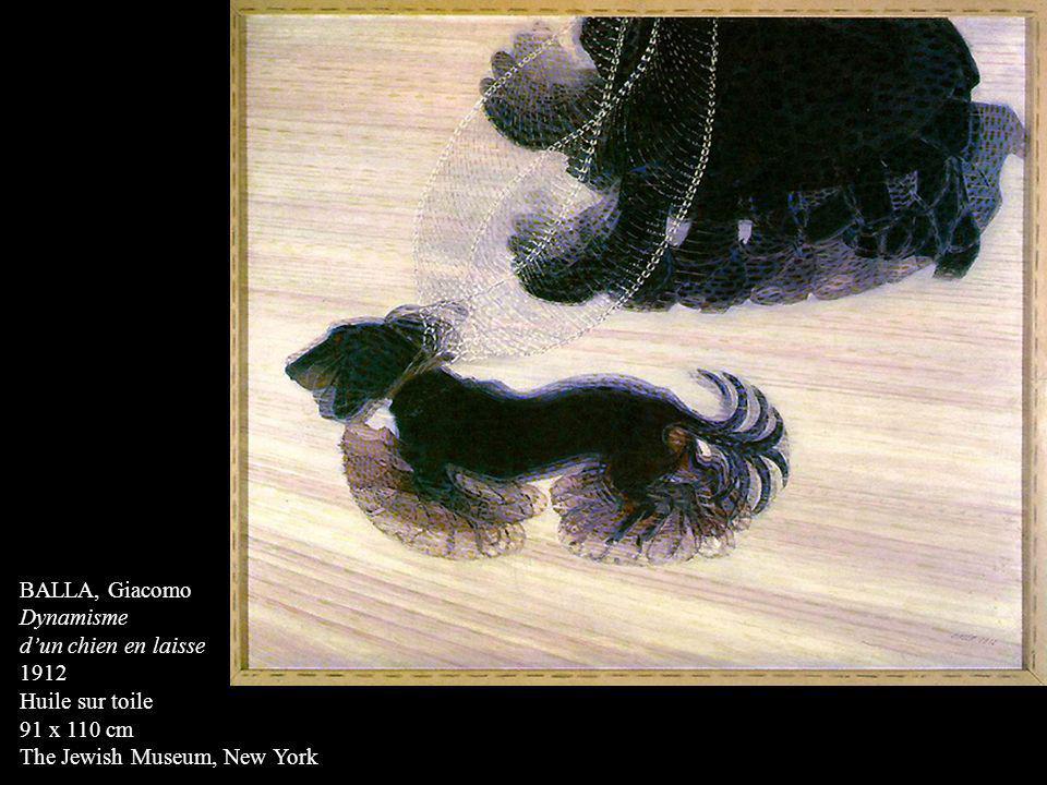 BALLA, Giacomo Dynamisme dun chien en laisse 1912 Huile sur toile 91 x 110 cm The Jewish Museum, New York