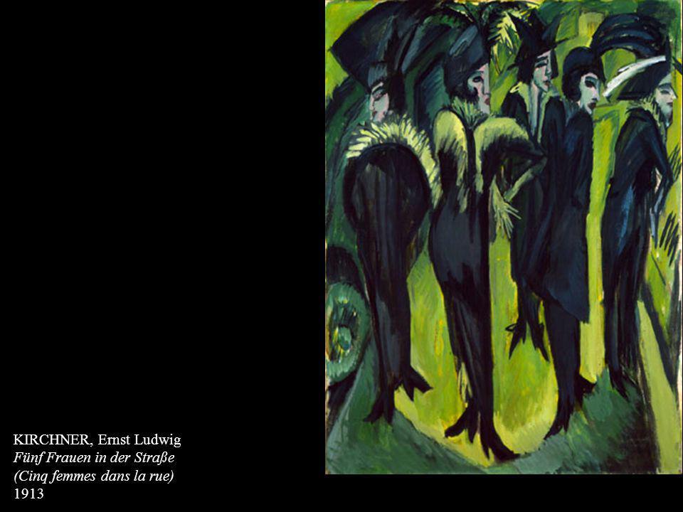 KIRCHNER, Ernst Ludwig Fünf Frauen in der Straße (Cinq femmes dans la rue) 1913