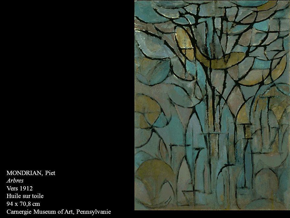 MONDRIAN, Piet Arbres Vers 1912 Huile sur toile 94 x 70,8 cm Carnergie Museum of Art, Pennsylvanie