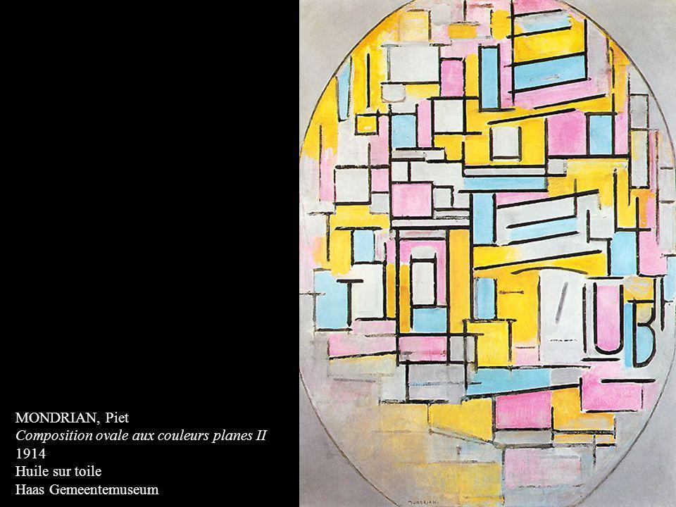 MONDRIAN, Piet Composition ovale aux couleurs planes II 1914 Huile sur toile Haas Gemeentemuseum