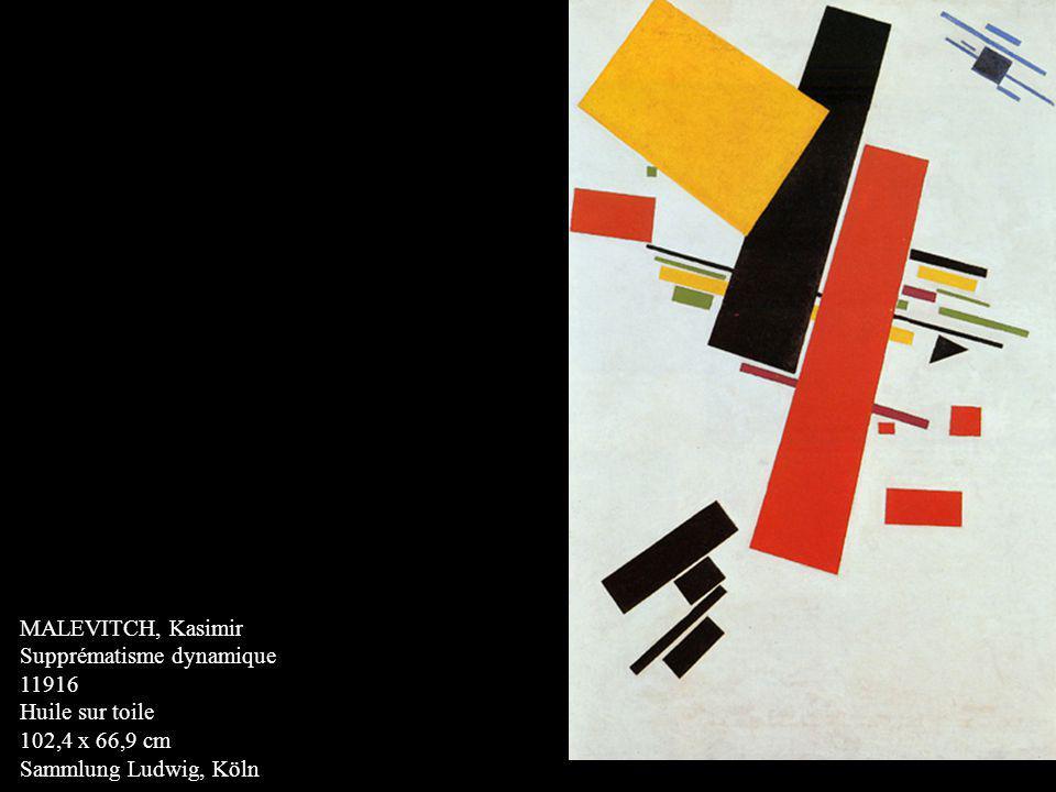 MALEVITCH, Kasimir Supprématisme dynamique 11916 Huile sur toile 102,4 x 66,9 cm Sammlung Ludwig, Köln