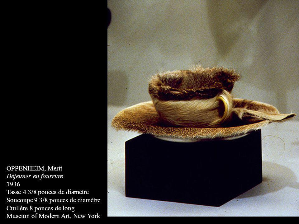 OPPENHEIM, Merit Déjeuner en fourrure 1936 Tasse 4 3/8 pouces de diamètre Soucoupe 9 3/8 pouces de diamètre Cuillère 8 pouces de long Museum of Modern