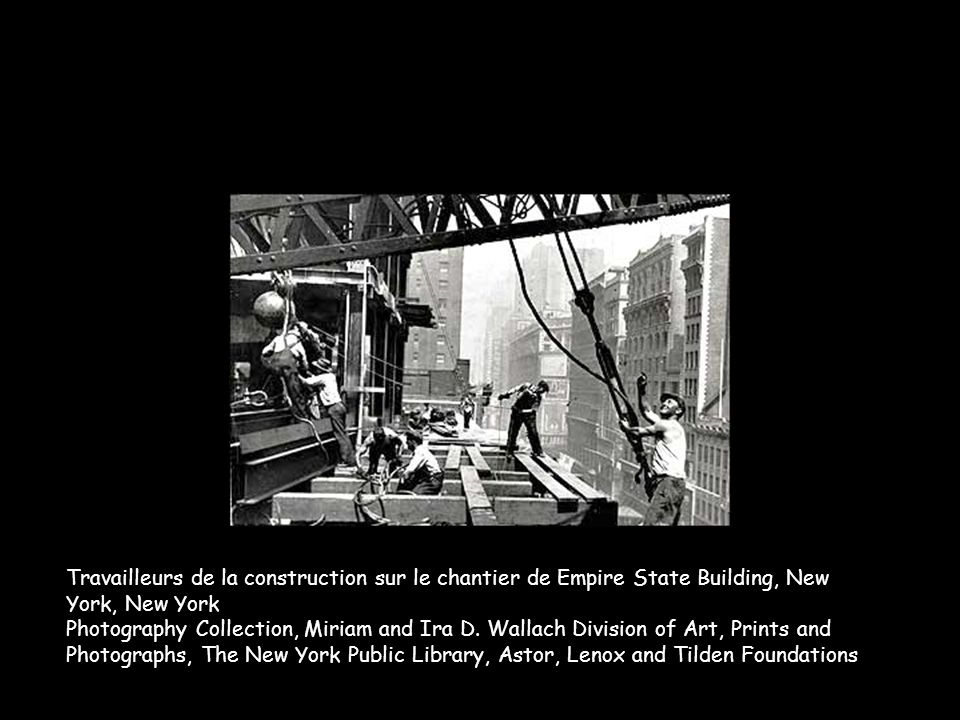 Travailleurs de la construction sur le chantier de Empire State Building, New York, New York Photography Collection, Miriam and Ira D.