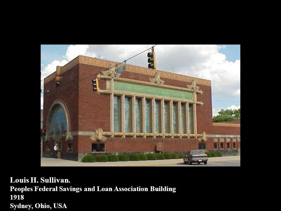 LOUIS H. SULLIVAN 1894: GUARANTY BUILDING BUFFALO