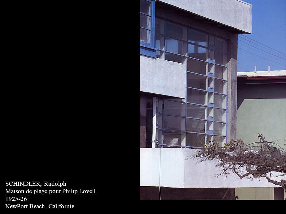 SCHINDLER, Rudolph Maison de plage pour Philip Lovell 1925-26 NewPort Beach, Californie