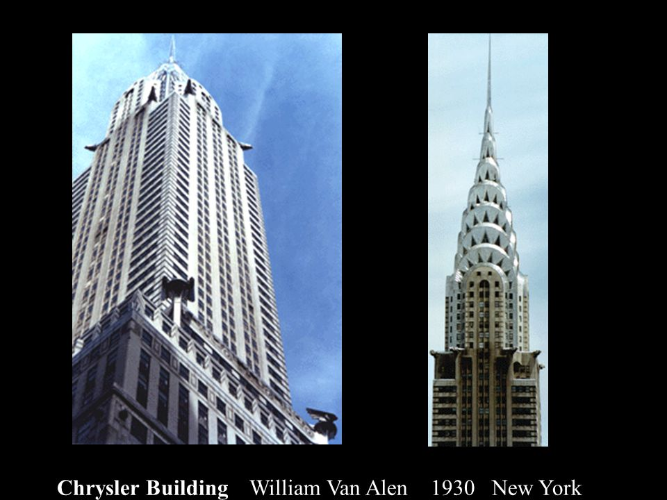 Chrysler Building William Van Alen 1930 New York