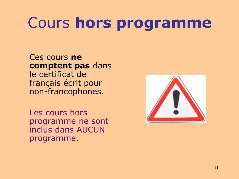 10 Plus tard, plusieurs étudiants qui ne parlaient pas français sont venus sinscrire à lUQAM… Cours hors programme: Niveau débutant (LAN 1600, 1601, 1