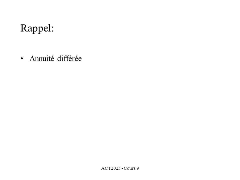 ACT2025 - Cours 9 Rappel: Annuité différée