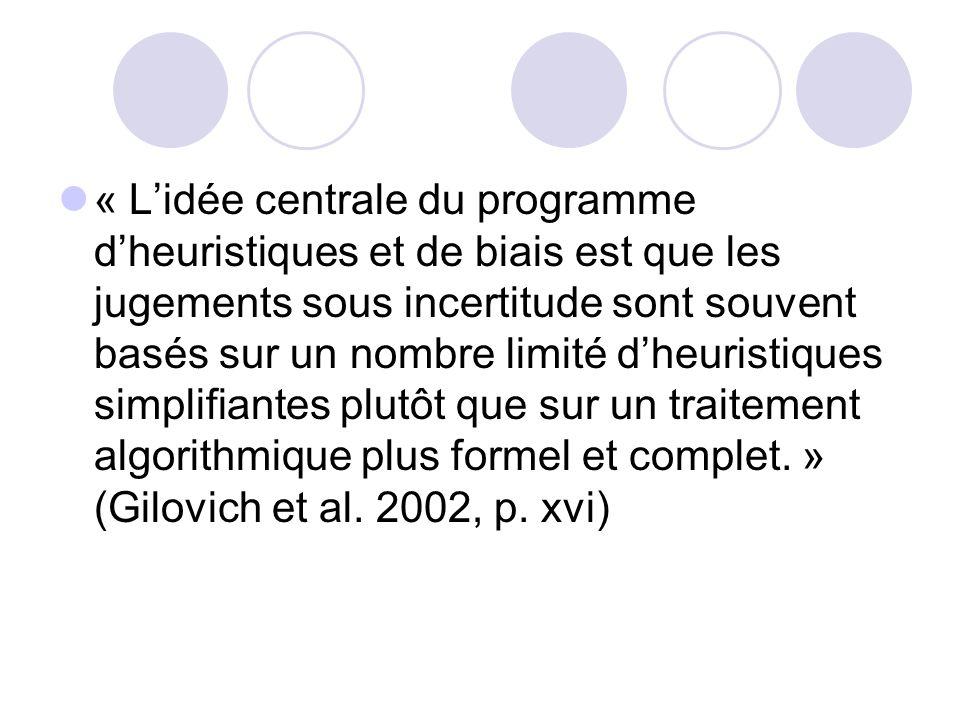 Dans les années 1970, Daniel Kahneman & Amos Tversky entreprennent un programme de recherche qui, pour plusieurs, a montré quAristote avait tort. Le p