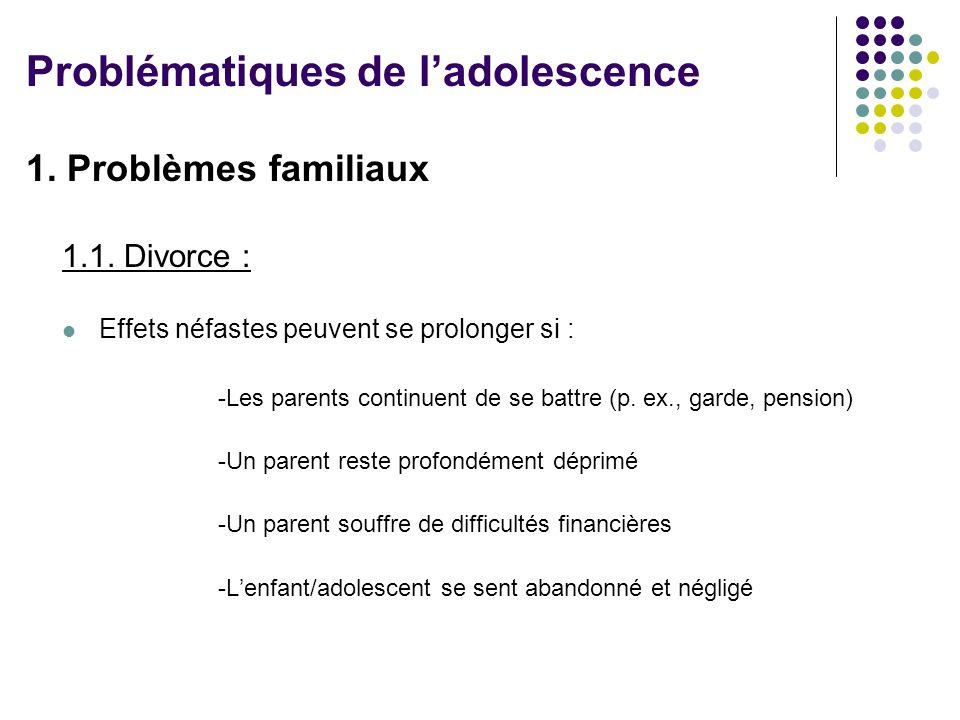 1.Problèmes familiaux 1.1.
