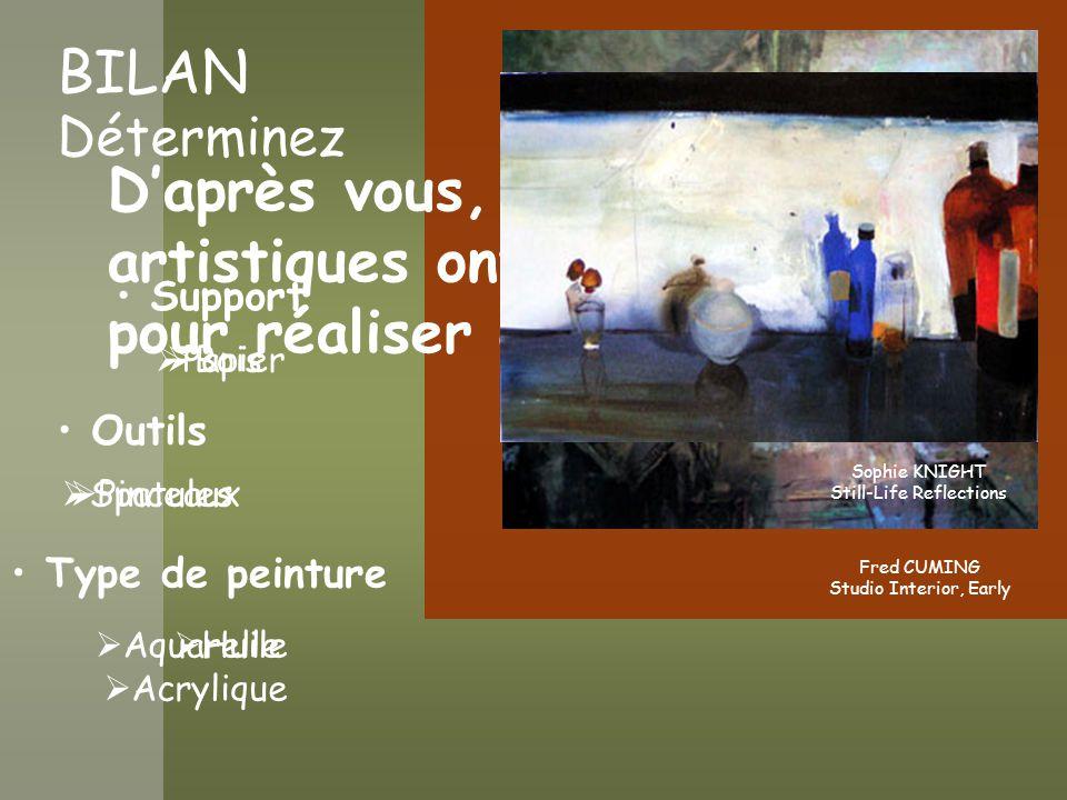 PROJET # 1 À partir du diaporama Faire le choix Un type de peinture Deux outils Un support Pour réaliser une composition en 2D Expliquez le pourquoi du choix des matériaux en relation avec la composition Remise le 13 septembre 2004 1.