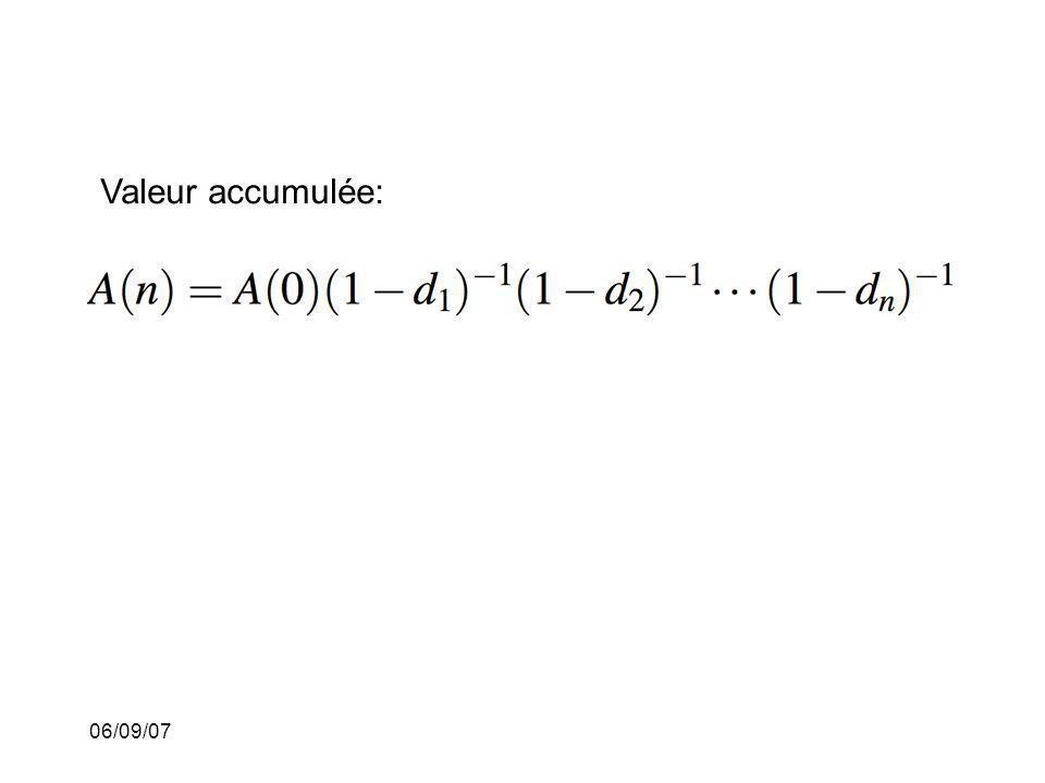 06/09/07 Valeur accumulée:
