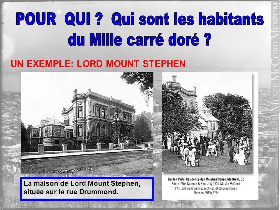 La population du Mille carré doré, évaluée à 25 000 habitants, détient à son apogée, vers 1900, environ 70% de la richesse canadienne.