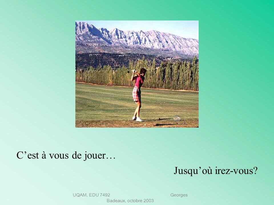 UQAM, EDU 7492 Georges Badeaux, octobre 2003 Préparez-vous quelques questions Manifestez votre intérêt. Obtenez des informations additionnelles Mettez