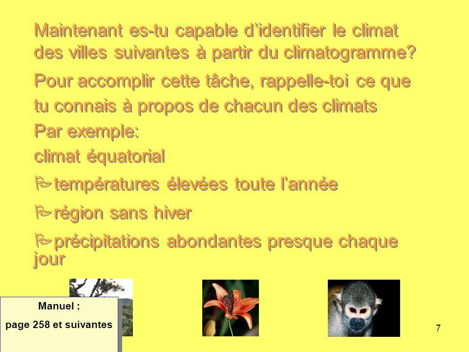 8 Température °C 30 25 20 15 10 5 0 -5 -10 -20 -30 Précipitation mm 700 600 500 400 300 200 100 0 Québec, (Canada) J F M A M J J A S O N D Climat polaireClimat océaniqueClimat continental