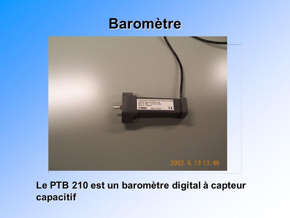 Baromètre Le PTB 210 est un baromètre digital à capteur capacitif