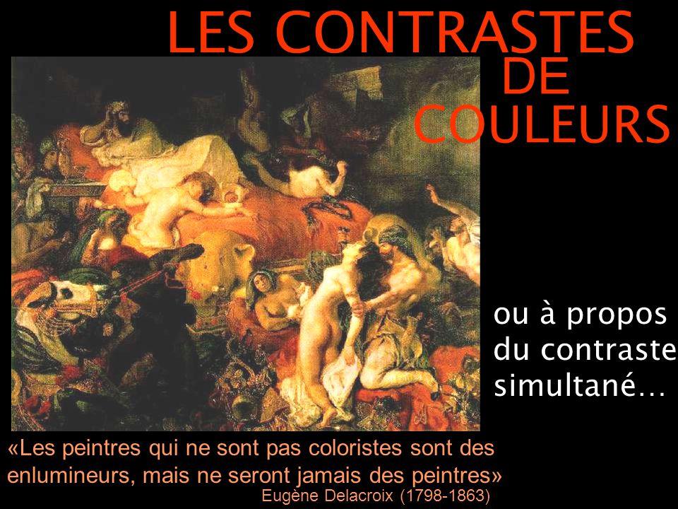 Henri Matisse, La Danse (II), 1910 intervient entre 2 couleurs pures qui ne sont pas exactement complémentaires Orange-rouge / vert / bleu = mouvement