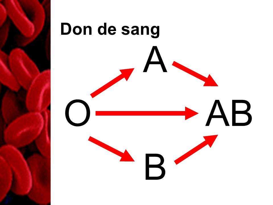 Don de sang O A B AB