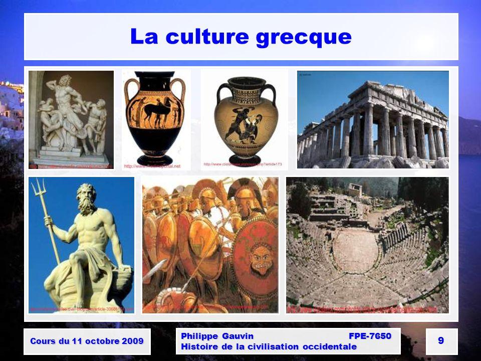 Cours du 11 octobre 2009 Philippe Gauvin FPE-7650 Histoire de la civilisation occidentale 10 La colonisation