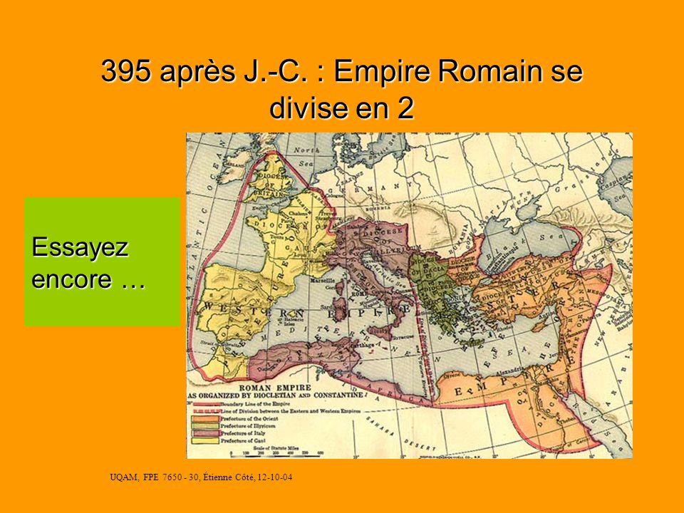 UQAM, FPE 7650 - 30, Étienne Côté, 12-10-04 UQAM Programme court de pédagogie de lenseignement supérieur Département des Sciences de lÉducation Réalis