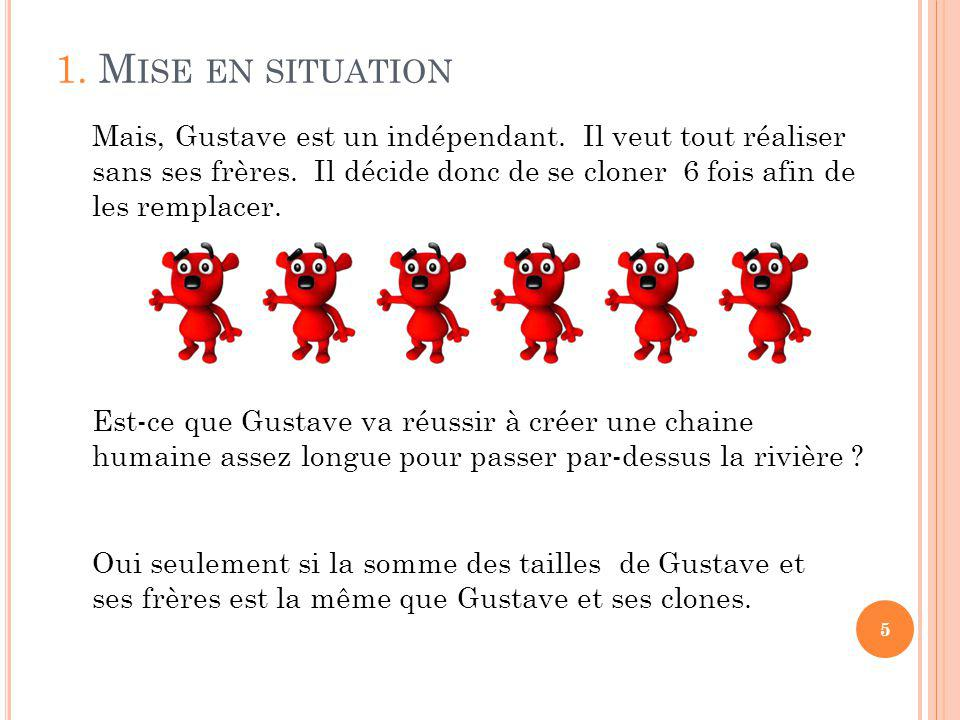 5 Mais, Gustave est un indépendant. Il veut tout réaliser sans ses frères.
