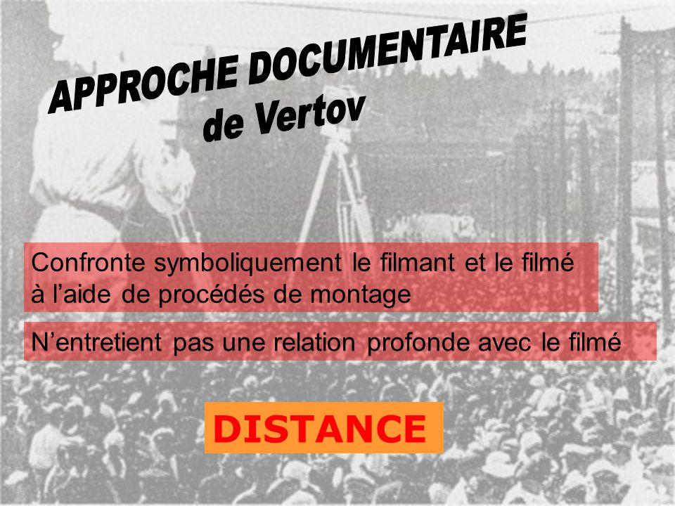 Peu de « mise en scène » des gens filmés « Personnages » multiples, anonymes Tournage fait en fonction du montage CONSTRUCTION