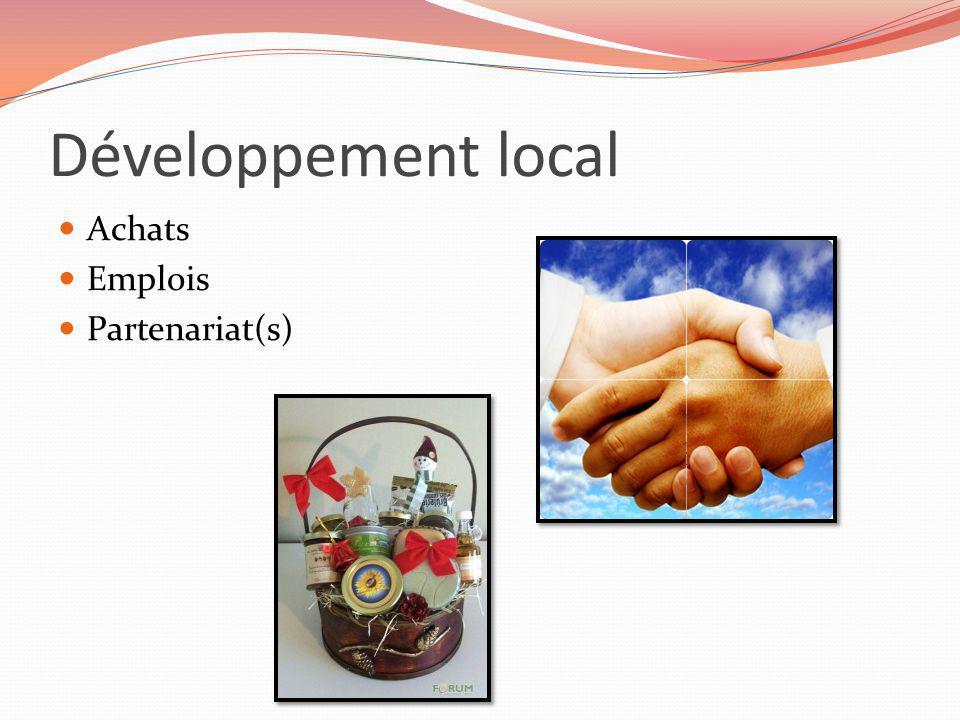 Développement local Achats Emplois Partenariat(s)