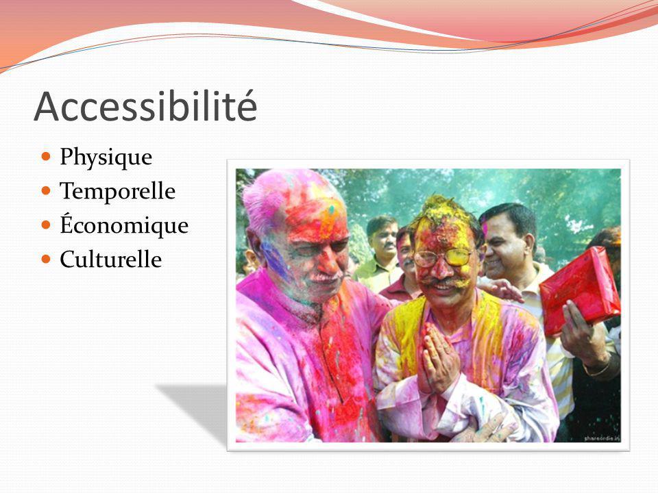 Accessibilité Physique Temporelle Économique Culturelle