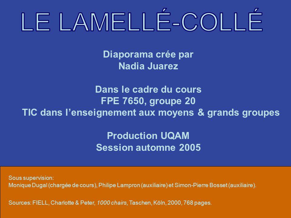 Diaporama crée par Nadia Juarez Dans le cadre du cours FPE 7650, groupe 20 TIC dans lenseignement aux moyens & grands groupes Production UQAM Session automne 2005 Sous supervision: Monique Dugal (chargée de cours), Philipe Lampron (auxiliaire) et Simon-Pierre Bosset (auxiliaire).