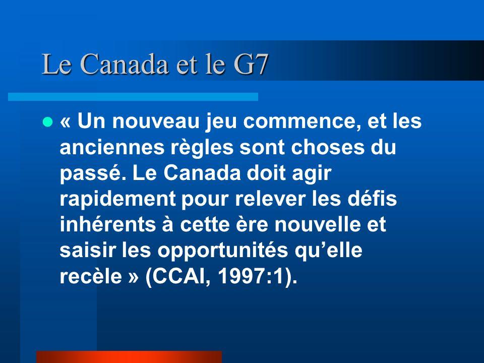 Le Canada et le G7 « Un nouveau jeu commence, et les anciennes règles sont choses du passé.