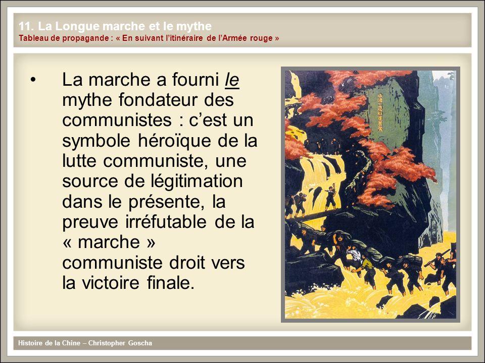 La marche a fourni le mythe fondateur des communistes : cest un symbole héroïque de la lutte communiste, une source de légitimation dans le présente,