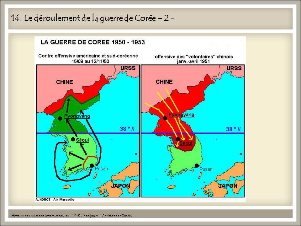 14. Le déroulement de la guerre de Corée – 2 - Histoire des relations internationales – 1945 à nos jours – Christopher Goscha