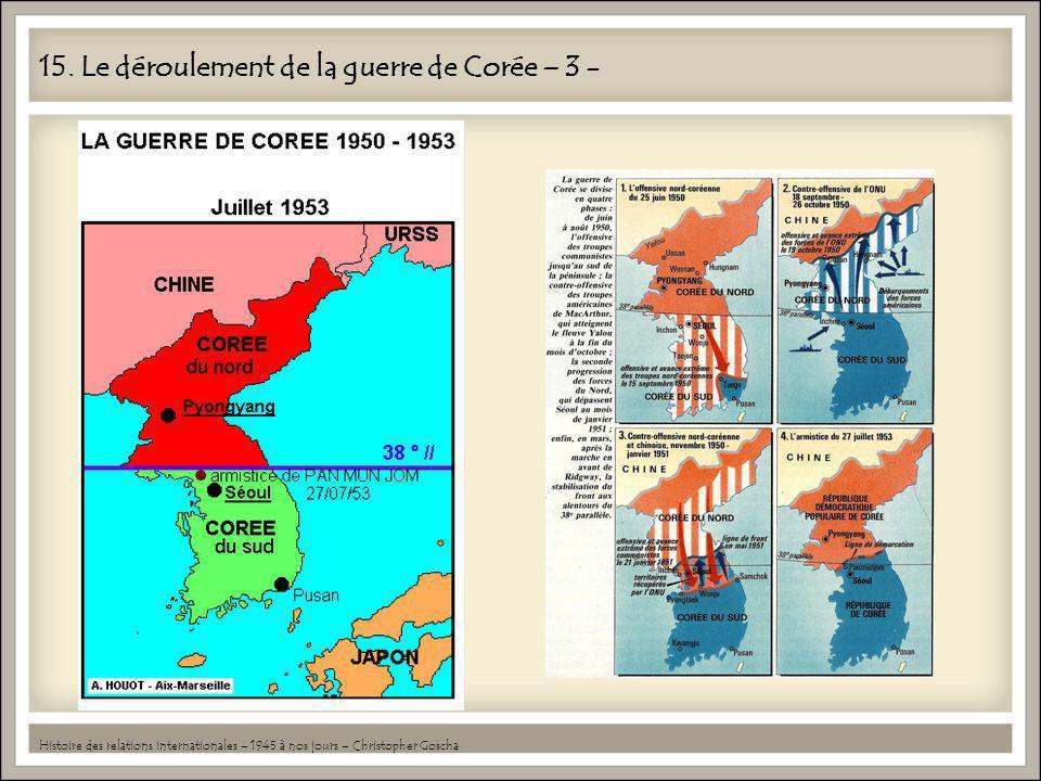 15. Le déroulement de la guerre de Corée – 3 - Histoire des relations internationales – 1945 à nos jours – Christopher Goscha