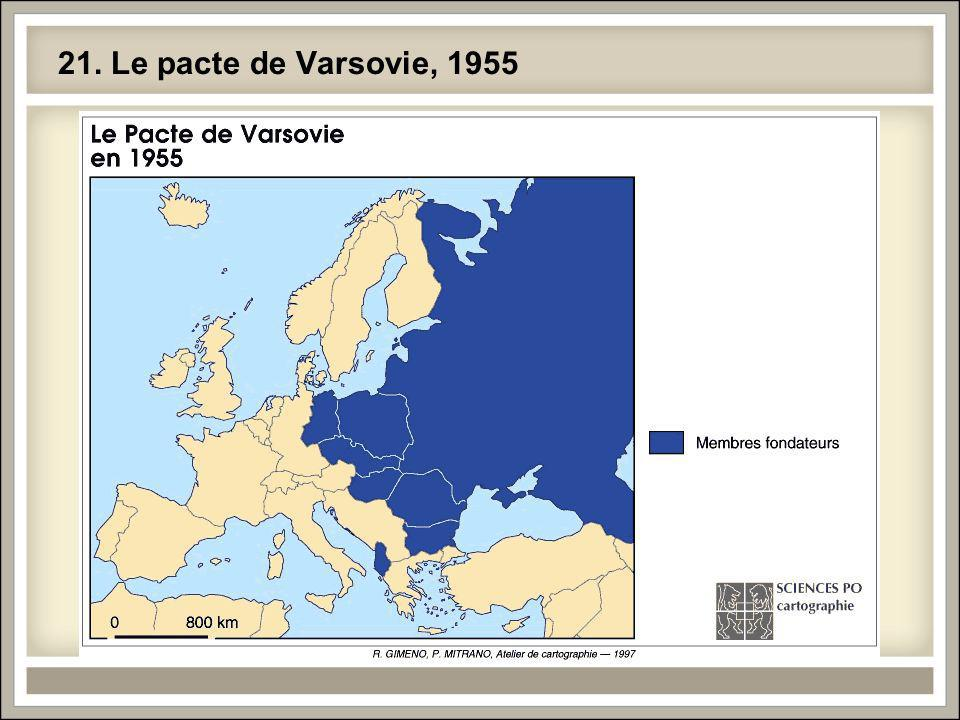 21. Le pacte de Varsovie, 1955