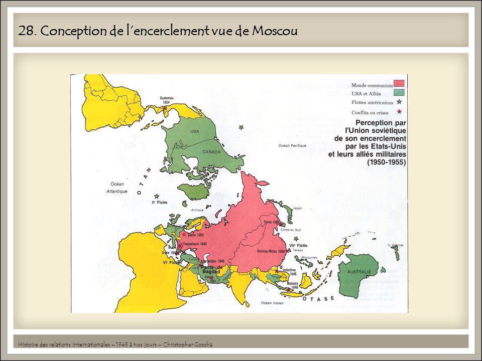 28. Conception de lencerclement vue de Moscou Histoire des relations internationales – 1945 à nos jours – Christopher Goscha