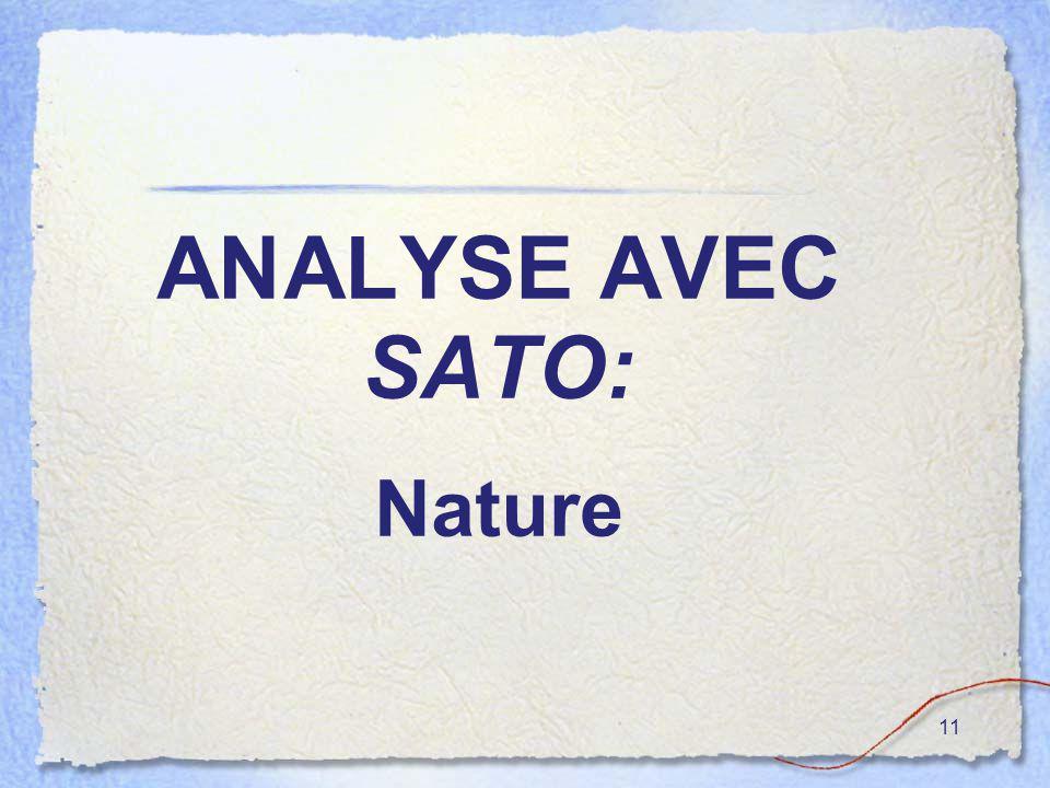 11 ANALYSE AVEC SATO: Nature