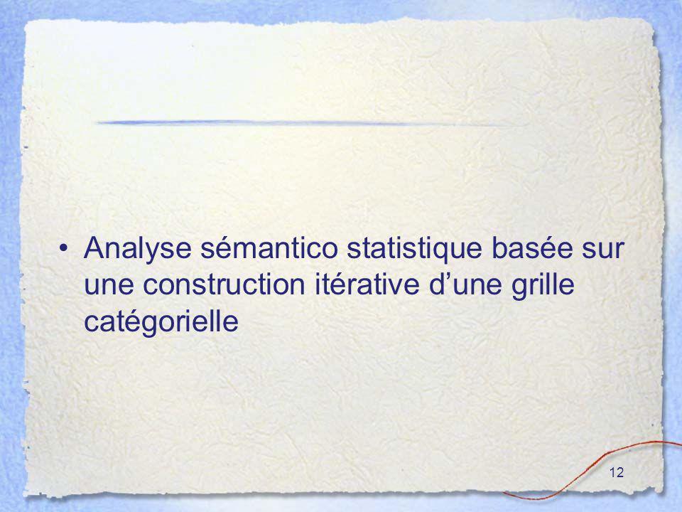 12 Analyse sémantico statistique basée sur une construction itérative dune grille catégorielle