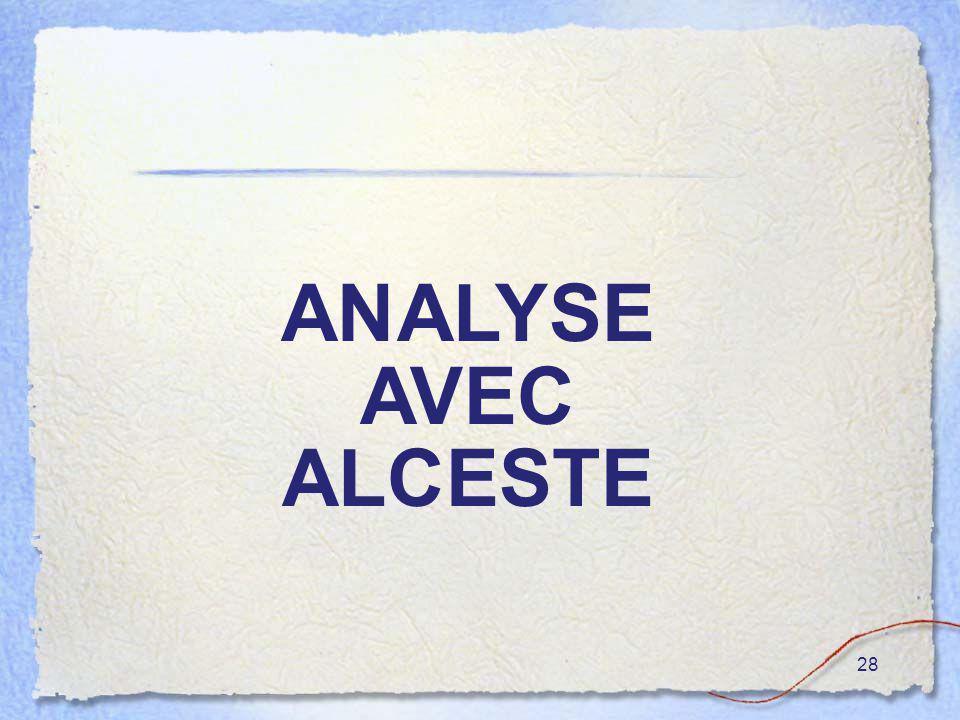 28 ANALYSE AVEC ALCESTE