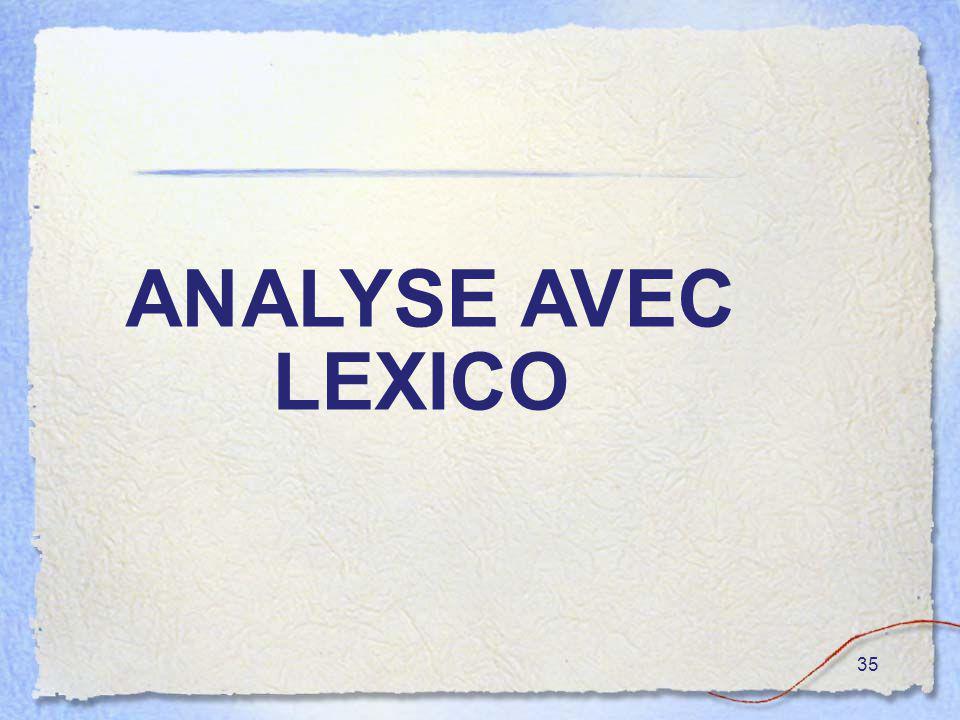 35 ANALYSE AVEC LEXICO O