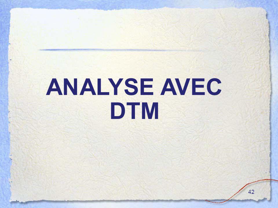 42 ANALYSE AVEC DTM