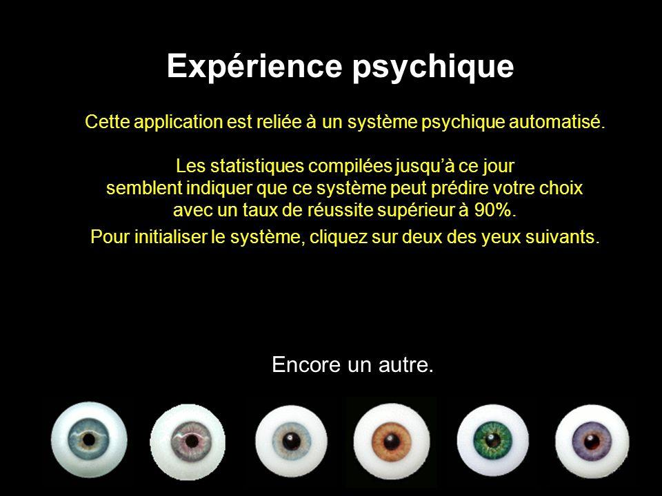 Cette application est reliée à un système psychique automatisé.