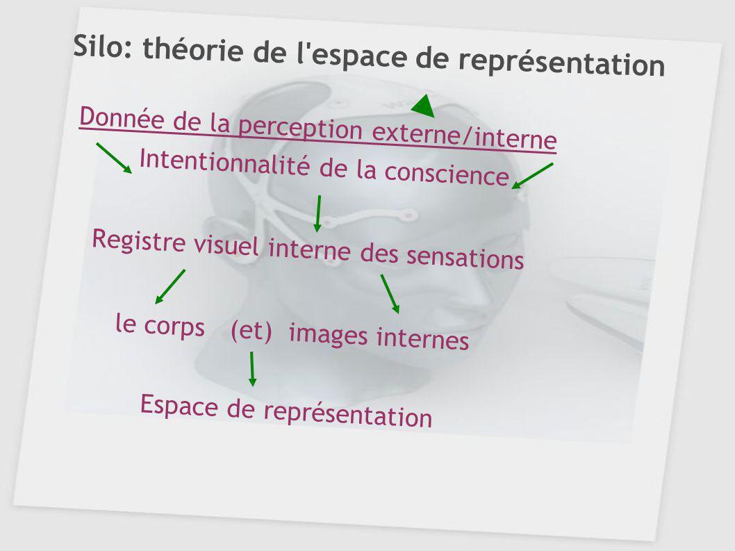 Silo: théorie de l'espace de représentation Donnée de la perception externe/interne Intentionnalité de la conscience Registre visuel interne des sensa