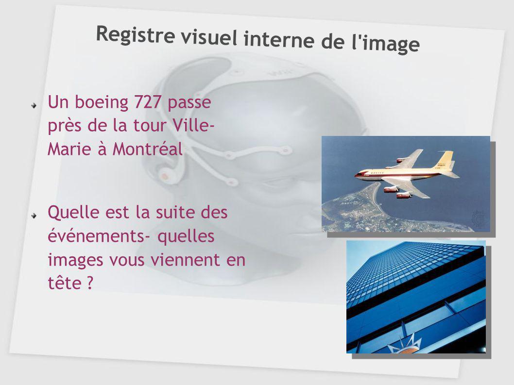 Registre visuel interne de l'image Un boeing 727 passe près de la tour Ville- Marie à Montréal Quelle est la suite des événements- quelles images vous