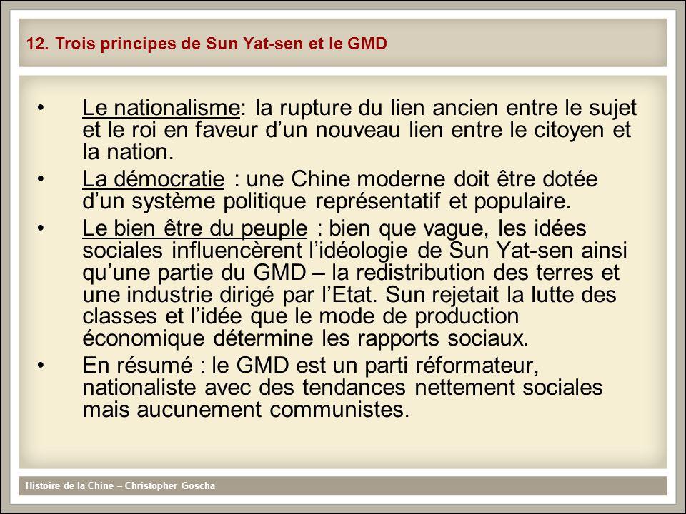 Le nationalisme: la rupture du lien ancien entre le sujet et le roi en faveur dun nouveau lien entre le citoyen et la nation. La démocratie : une Chin